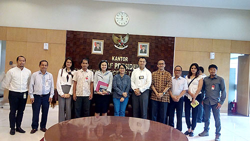 Four NGO's discuss wildlife situation in Indonesia with Presidential Office Expert Staff (December 18, 2017)